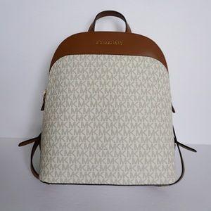 Michael Kors Emmy Large Backpack PVC MK Vanilla